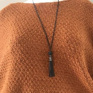 Tassel Necklace with Bead